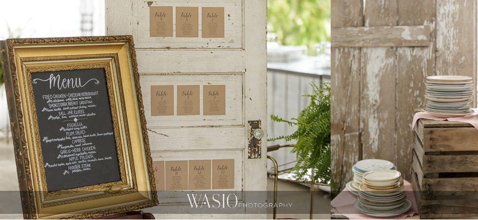 Heritage-Prairie-Farm-Wedding-rustic-seating-chart-vintage-plates-06 Heritage Prairie Farm Wedding