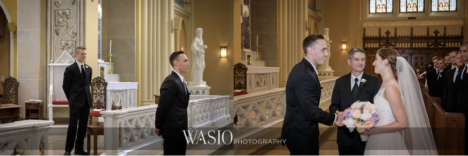 Hotel-Arista-Naperville-Wedding-St.-Peter-and-Paul-Cathedral-first-look-with-groom-and-fahter-of-bride-14 Hotel Arista Naperville Wedding - Alina and Mike