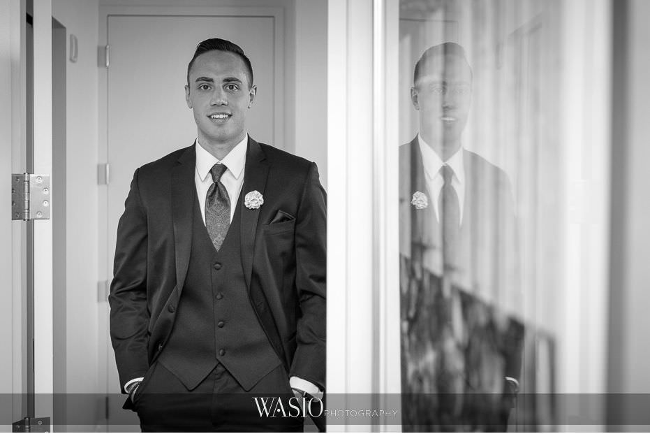 Hotel-Arista-Naperville-Wedding-black-white-groom-portrait-89 Hotel Arista Naperville Wedding - Alina and Mike