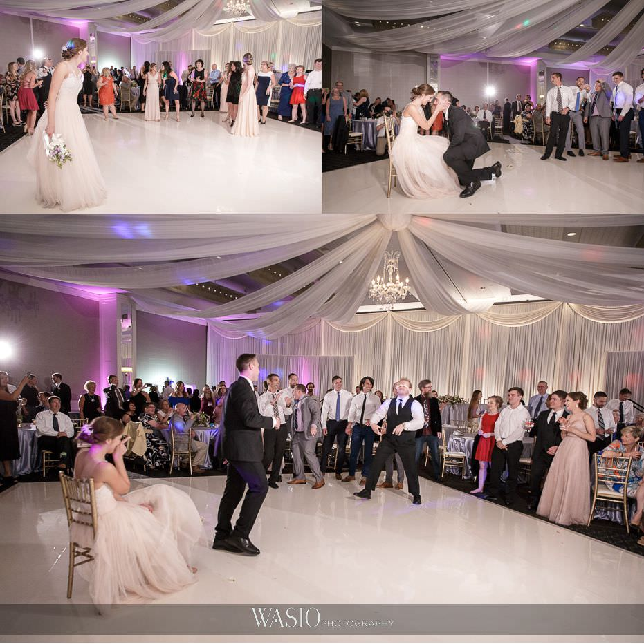 Hotel-Arista-Naperville-Wedding-bouqet-and-garter-toss-35 Hotel Arista Naperville Wedding - Alina and Mike