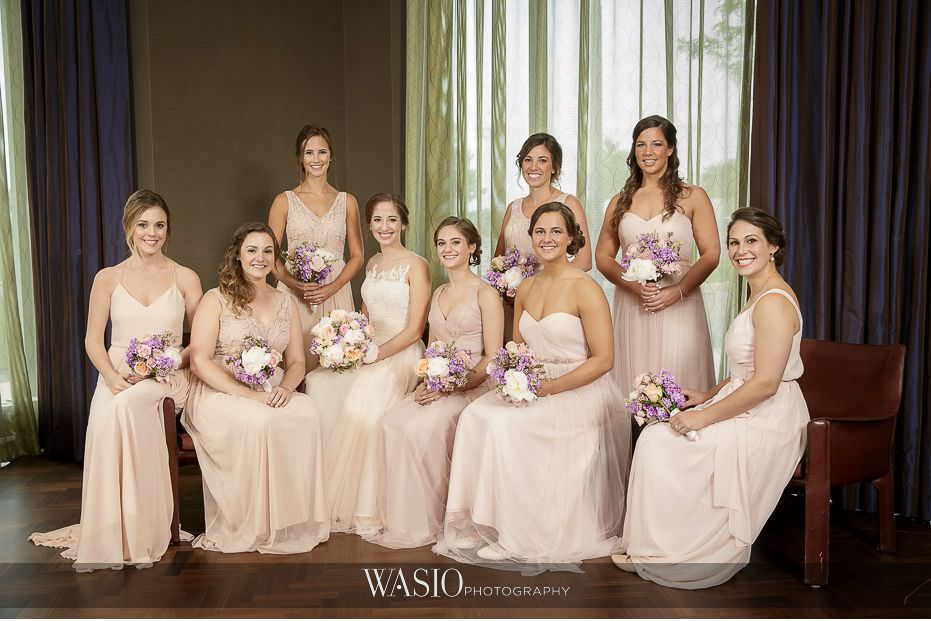 Hotel-Arista-Naperville-Wedding-classic-bride-bridesmaid-photo-pink-dresses-05 Hotel Arista Naperville Wedding - Alina and Mike