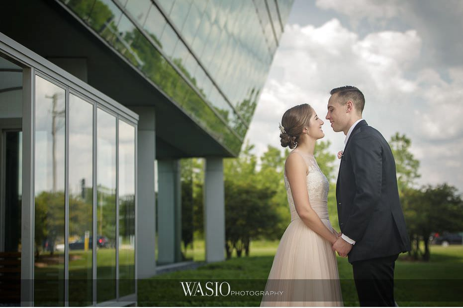 Hotel-Arista-Naperville-Wedding-dramtic-bride-groom-portrait-beautiful-clouds-07 Hotel Arista Naperville Wedding - Alina and Mike
