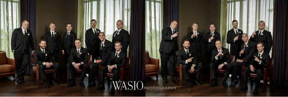 Hotel-Arista-Naperville-Wedding-fun-serious-groomsmen-portrait-02 Hotel Arista Naperville Wedding - Alina and Mike