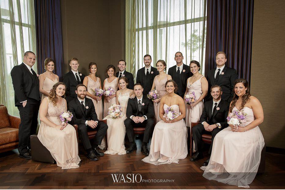 Hotel-Arista-Naperville-Wedding-fun-wedding-party-photo-04 Hotel Arista Naperville Wedding - Alina and Mike