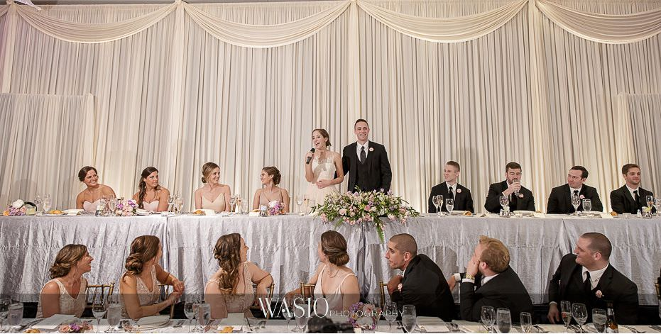 Hotel-Arista-Naperville-Wedding-wedding-party-introductions-head-table-25 Hotel Arista Naperville Wedding - Alina and Mike