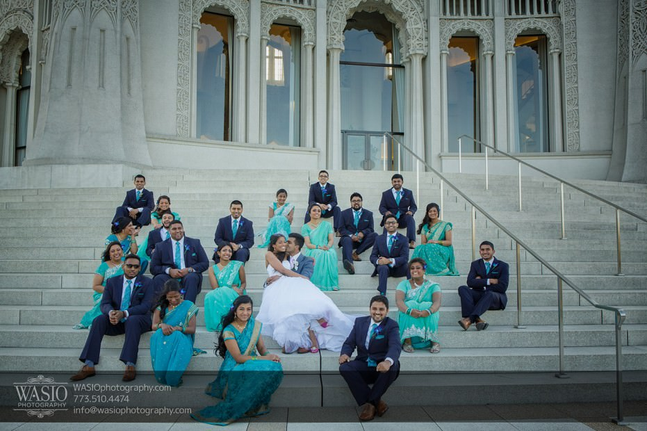 Indian-wedding-photograpy-bridal-party-group-photo-Indian-Couple-026-931x620 Chicago Indian Wedding  - Cheryl + Brian