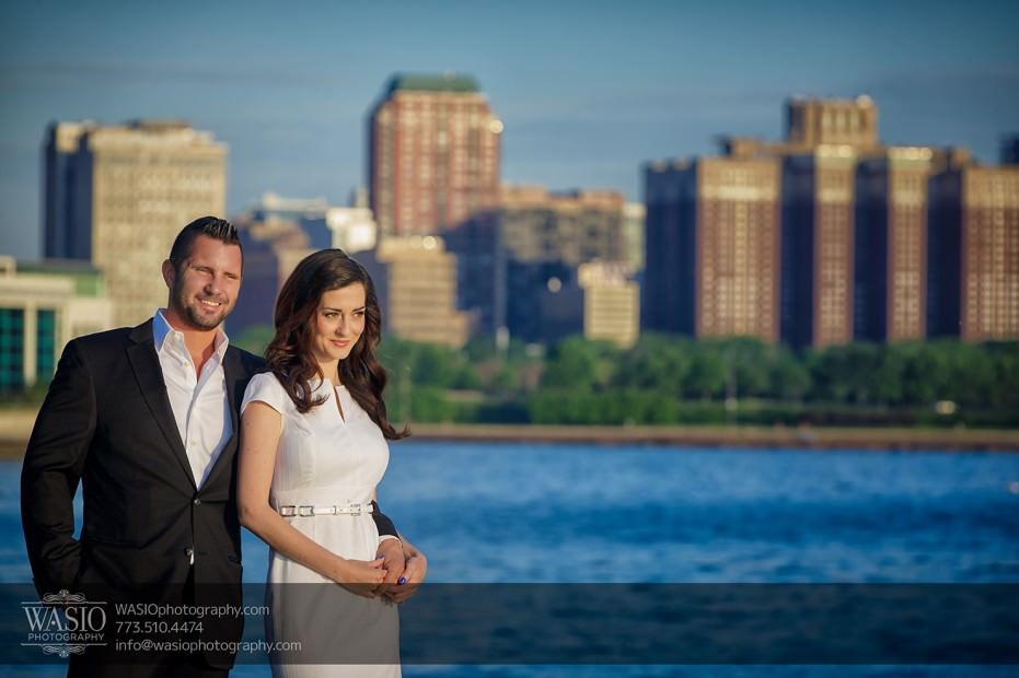 KS-ENG-2014-_Q7A7582-Edit-931x620 Chicago skyline sunrise engagement - Katherine + Stephen