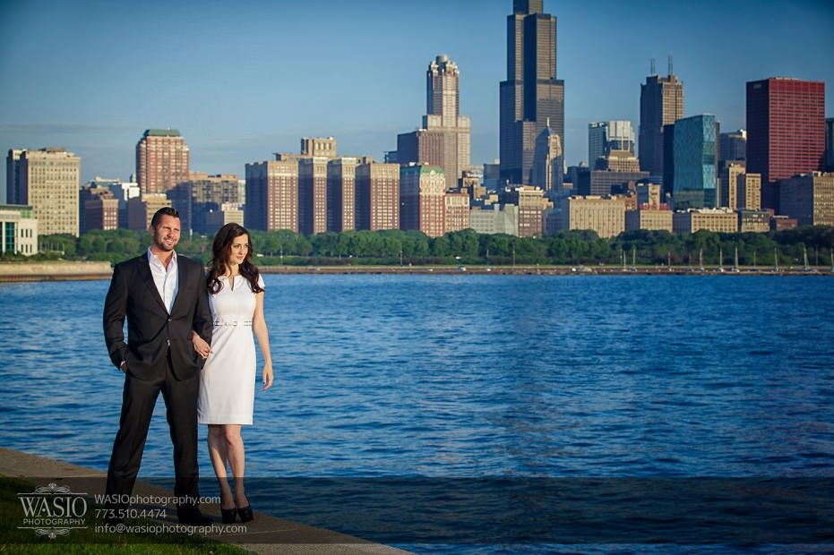 KS-ENG-2014-_Q7A7588-Edit-931x620 Chicago skyline sunrise engagement - Katherine + Stephen