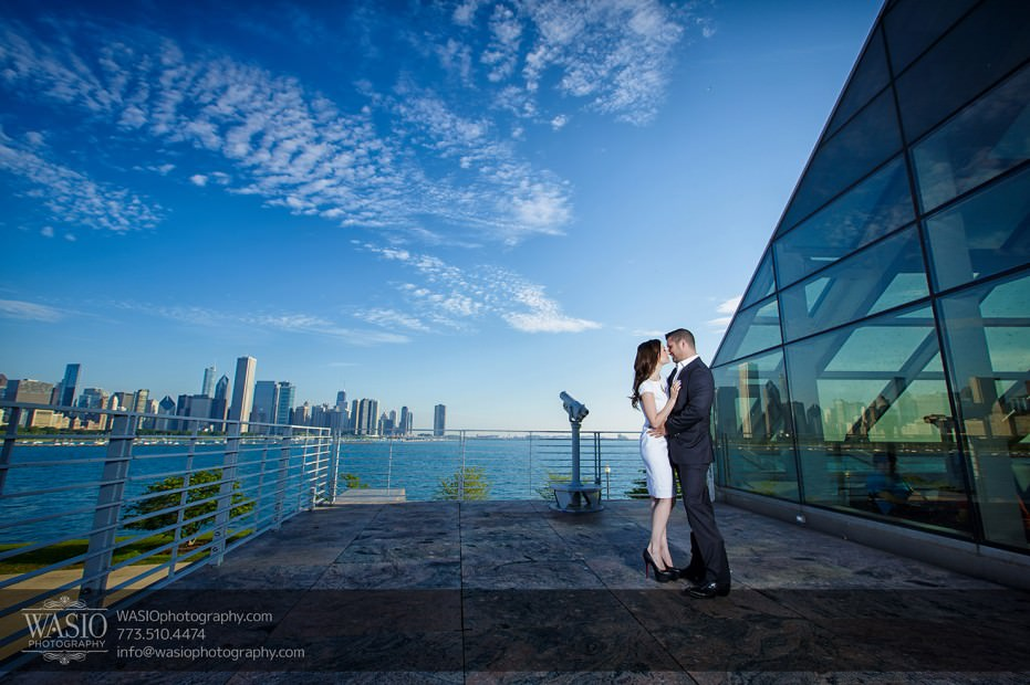 KS-ENG-2014-_Q7A7807-Edit-931x620 Chicago skyline sunrise engagement - Katherine + Stephen