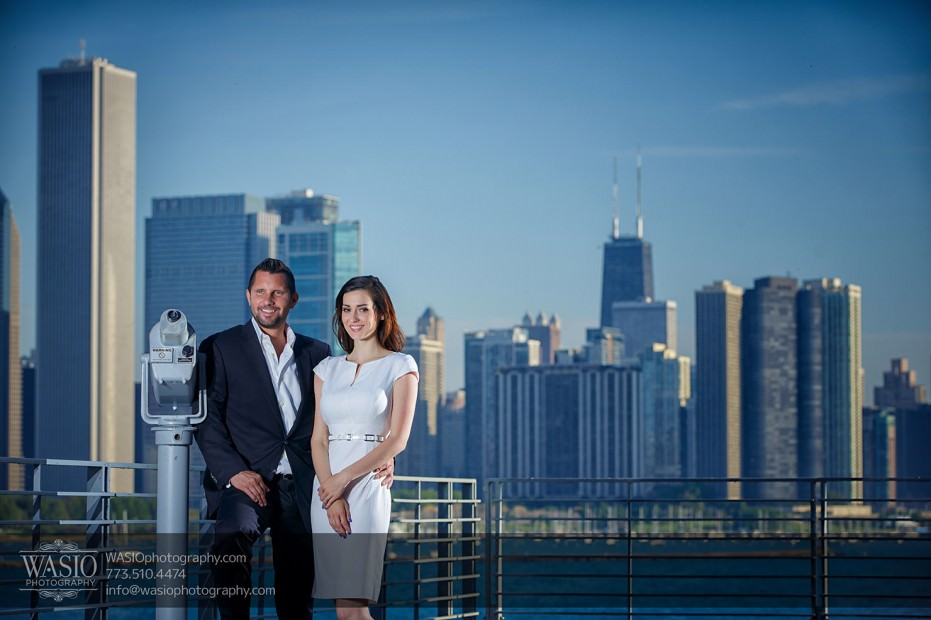 KS-ENG-2014-_Q7A7837-Edit-931x620 Chicago skyline sunrise engagement - Katherine + Stephen