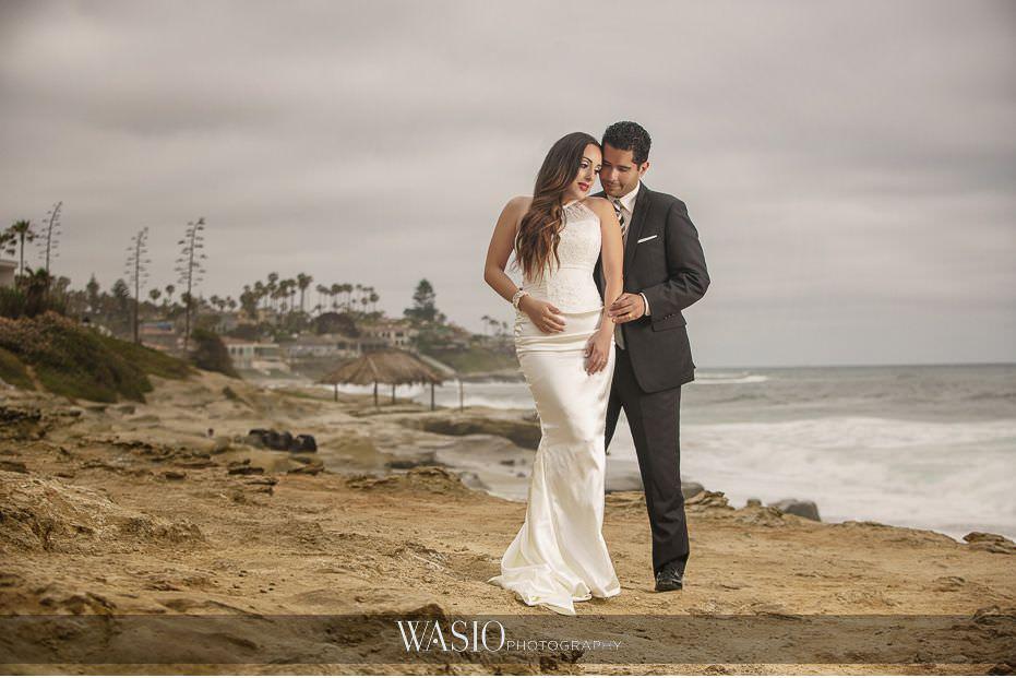 La-Jolla-and-Gaslamp-Quarter-Wedding-Photos-Windandsea-Beach-bride-groom-portrait-38 La Jolla and Gaslamp Quarter Wedding Photos - Bell & Frankie