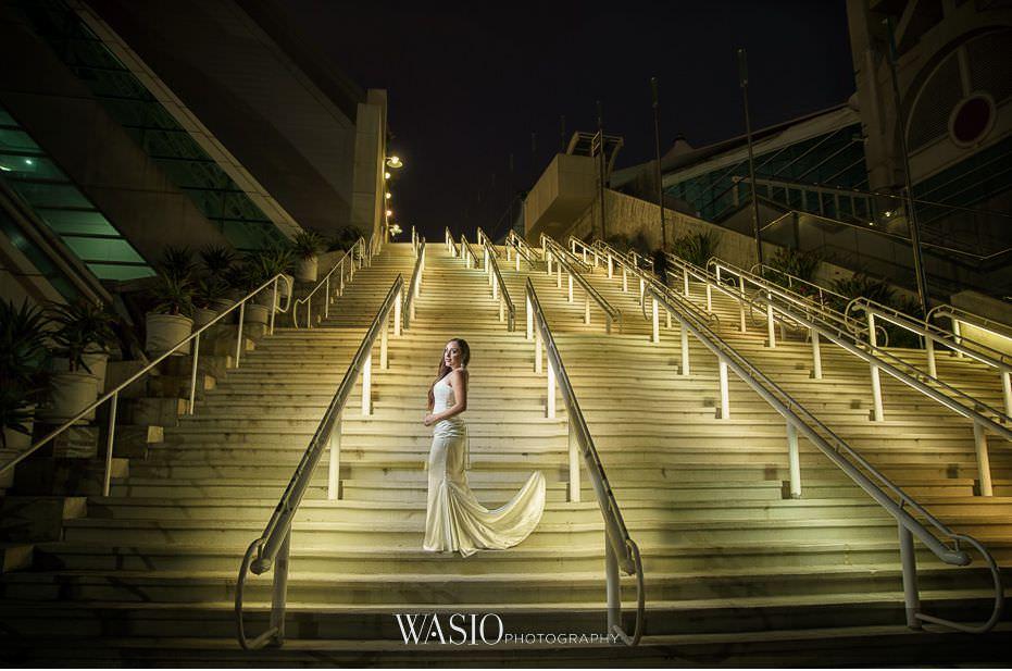 La-Jolla-and-Gaslamp-Quarter-Wedding-Photos-convention-center-bride-portrait-white-wedding-dress-48 La Jolla and Gaslamp Quarter Wedding Photos - Bell & Frankie