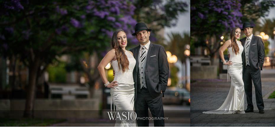 La-Jolla-and-Gaslamp-Quarter-Wedding-Photos-sunset-bride-groom-portrait-downtown-San-Diego-44 La Jolla and Gaslamp Quarter Wedding Photos - Bell & Frankie