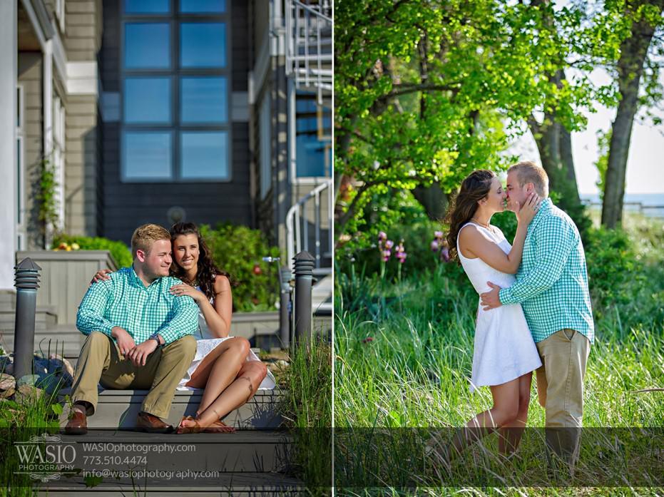 Lake-Michigan-Engagement-flirt-fun-passion-kiss-nature-flip-flops-070-931x697 Lake Michigan Engagement - Carrie + John