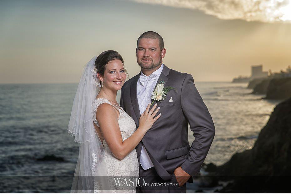 Las-Rocas-Resort-Rosarito-Wedding-bride-groom-sunset-over-ocean-portrait-44 Las Rocas Resort Rosarito Wedding - Meaghan and Eric
