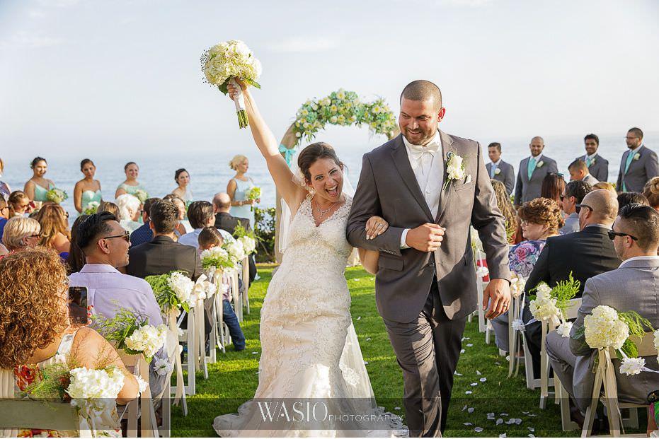 Las-Rocas-Resort-Rosarito-Wedding-ceremony-just-married-bride-groom-happy-outdoor-baja-california-43 Winner of The Knot 2018 Best of Weddings - WASIO photography