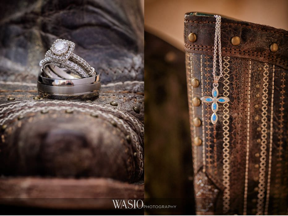 Las-Rocas-Resort-Rosarito-Wedding-cowgirl-boots-shoes-wedding-band-engagement-ring-diamond-opal-cross-necklace-details-16 Las Rocas Resort Rosarito Wedding - Meaghan and Eric