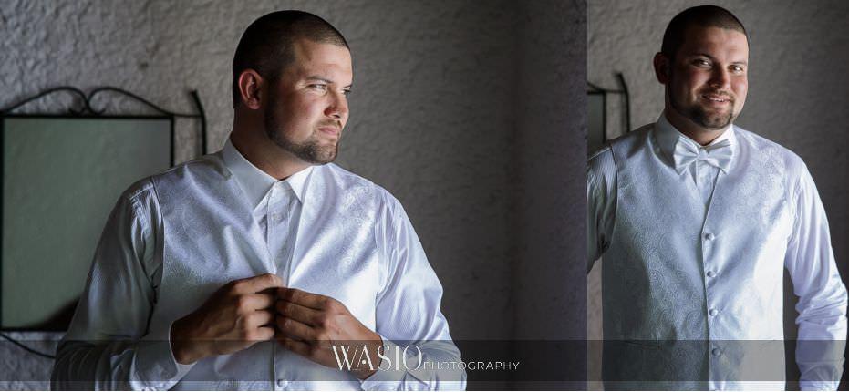 Las-Rocas-Resort-Rosarito-Wedding-groom-preparation-portrait-classic-white-vest-20 Las Rocas Resort Rosarito Wedding - Meaghan and Eric