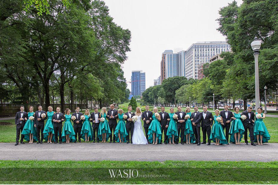 Lavish-wedding-by-Yanni-Design-downtown-Chicago-Michigan-avenue-big-wedding-party-portrait-35 Lavish Wedding by Yanni Design - Maggie & Jerry
