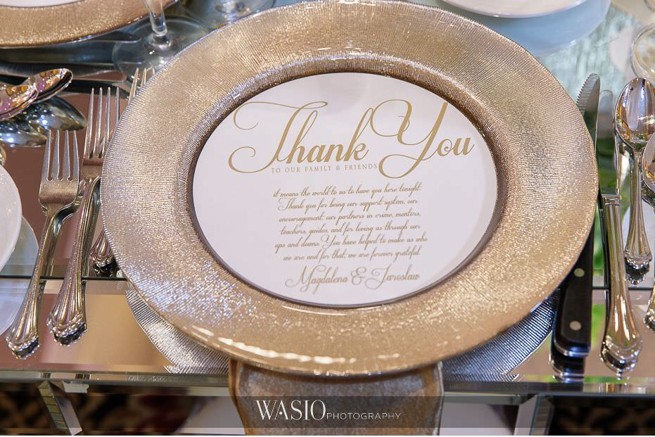 Lavish-wedding-by-Yanni-Design-gold-charger-plates-custom-thank-you-notes-46 Lavish Wedding by Yanni Design - Maggie & Jerry