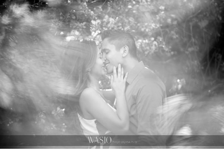 Los-Angeles-Arboretum-Engagement-black-white-creative-portrait-couple-kiss-romantic-love-California-71 Los Angeles Arboretum Engagement - Armi and Omar