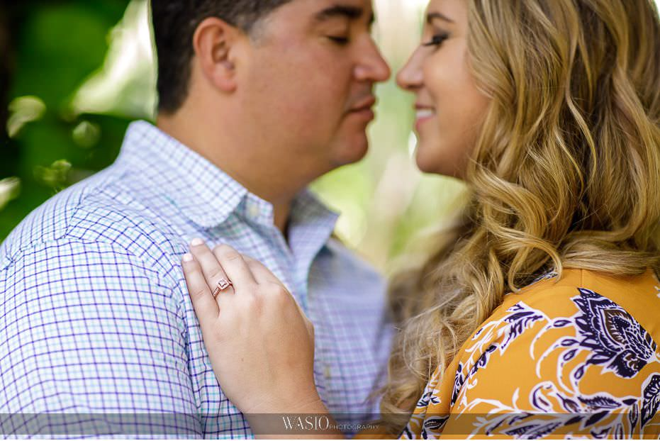 Maui-engagement-session-photographs-passionate-kiss-diamond-yellow-gold-engagement-ring-details-Honolua-Bay-13 Romantic Maui Engagement Session - Kristen and Frank
