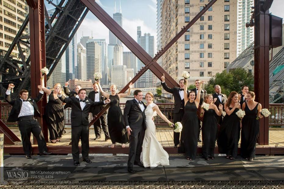 Montgomery-club-chicago-wedding-Chicago-bridge-industrial-bridal-party-015-931x620 Montgomery Club Chicago Wedding - Lauren + Teddy
