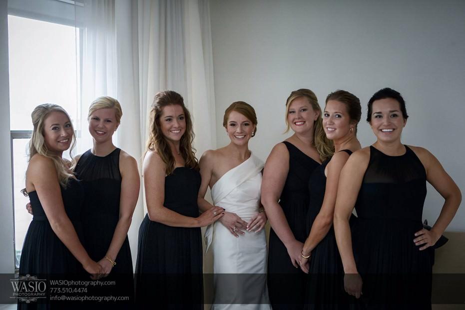 Montgomery-club-chicago-wedding-bridesmaids-bride-white-black-public-hotel-happy-005-931x620 Montgomery Club Chicago Wedding - Lauren + Teddy