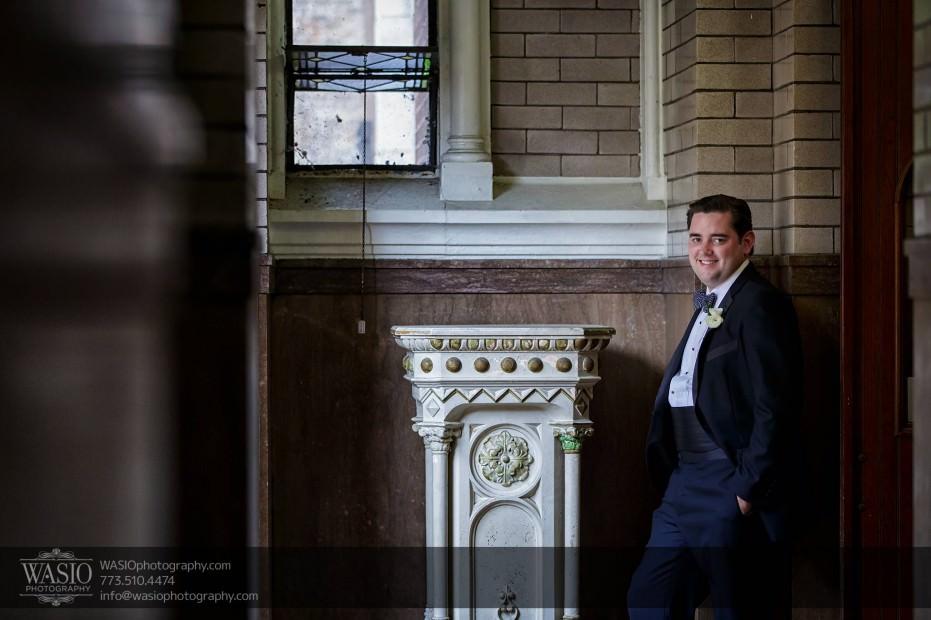 Montgomery-club-chicago-wedding-groom-st.-michael-portrait-008-931x620 Montgomery Club Chicago Wedding - Lauren + Teddy