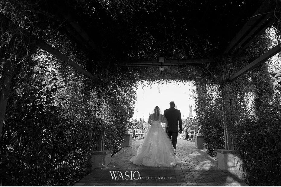 Mount-Palomar-Winery-Wedding-black-white-ceremony-photo-journalistic-father-of-bride-walking-down-aisle-75 Mount Palomar Winery Wedding - Chelsea & Brandon