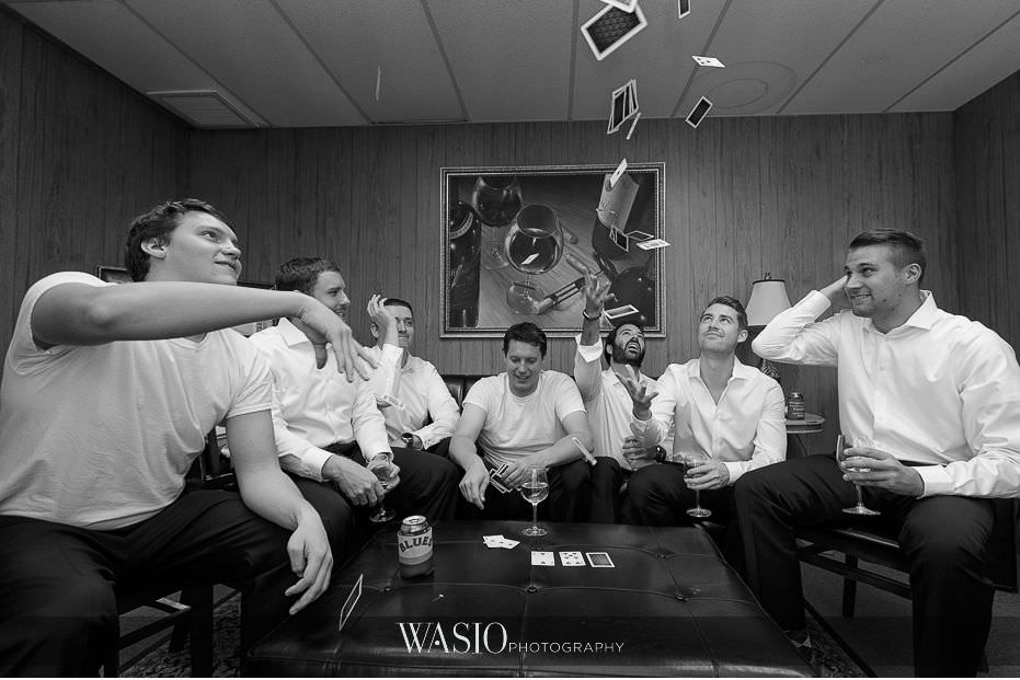 Mount-Palomar-Winery-Wedding-black-white-photo-journalism-groom-groomsmen-playing-cards-fun-55 Mount Palomar Winery Wedding - Chelsea & Brandon