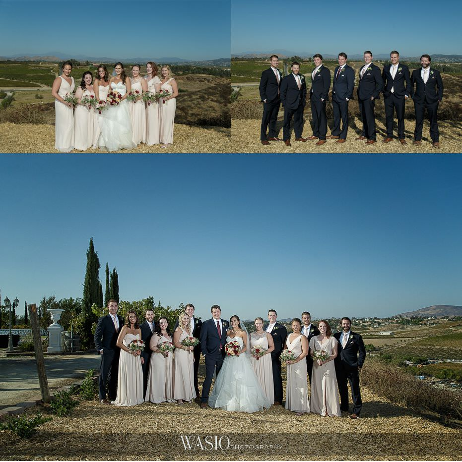 Mount-Palomar-Winery-Wedding-bridesmaids-groomsmen-outdoor-fun-group-portraits-71 Mount Palomar Winery Wedding - Chelsea & Brandon
