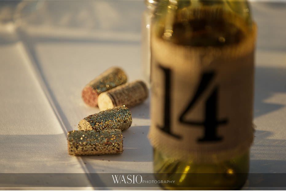 Mount-Palomar-Winery-Wedding-custom-gold-sparkle-bottle-corks-table-decor-diy-86 Mount Palomar Winery Wedding - Chelsea & Brandon