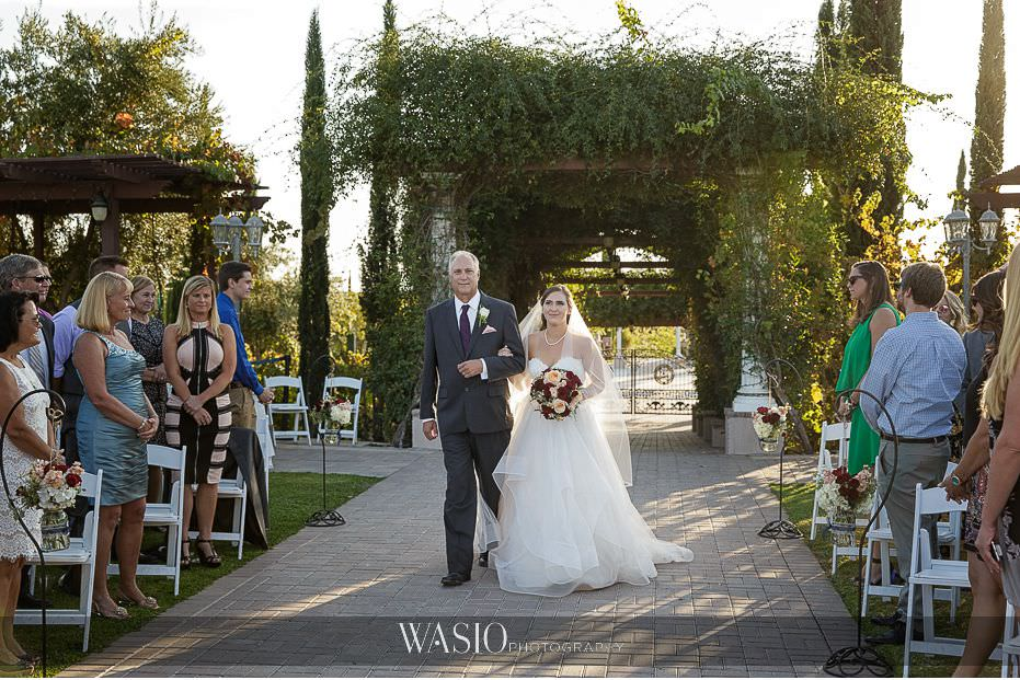 Mount-Palomar-Winery-Wedding-outdoor-ceremony-bride-father-of-bride-walking-down-aisle-76 Mount Palomar Winery Wedding - Chelsea & Brandon