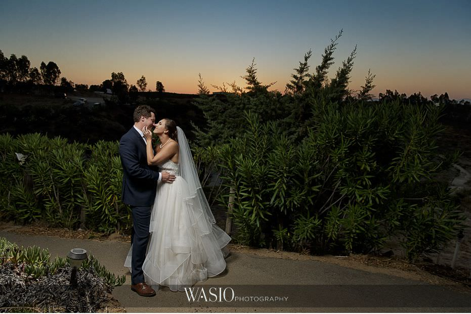 Mount-Palomar-Winery-Wedding-romantic-intimate-kiss-at-sunset-golden-hour-photography-94 Mount Palomar Winery Wedding - Chelsea & Brandon