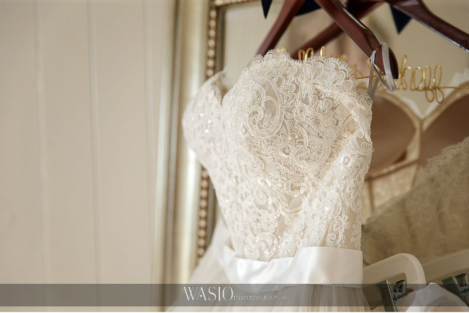 Mount-Palomar-Winery-Wedding-strapless-white-gown-lace-detail-custom-golden-hanger-52 Mount Palomar Winery Wedding - Chelsea & Brandon