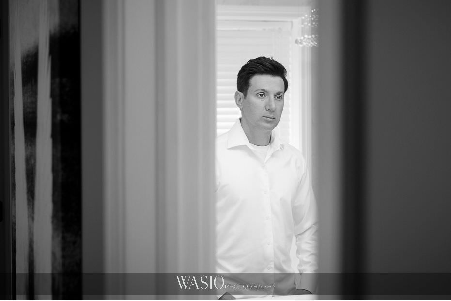 Museum-of-broadcast-communications-wedding-black-white-photo-journalistic-groom-portrait-Italian-man-29 Museum of Broadcast Communications Wedding - Alyssa & Salvatore