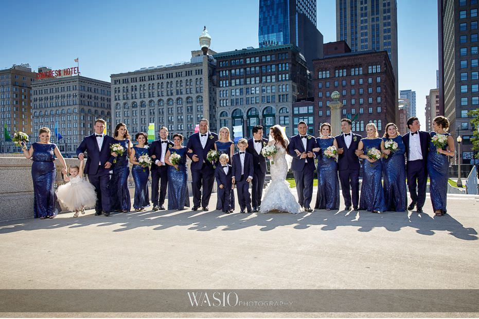 Museum-of-broadcast-communications-wedding-downtown-Chicago-wedding-party-portraits-fun-outdoor-summer-time-Illinois-45 Museum of Broadcast Communications Wedding - Alyssa & Salvatore