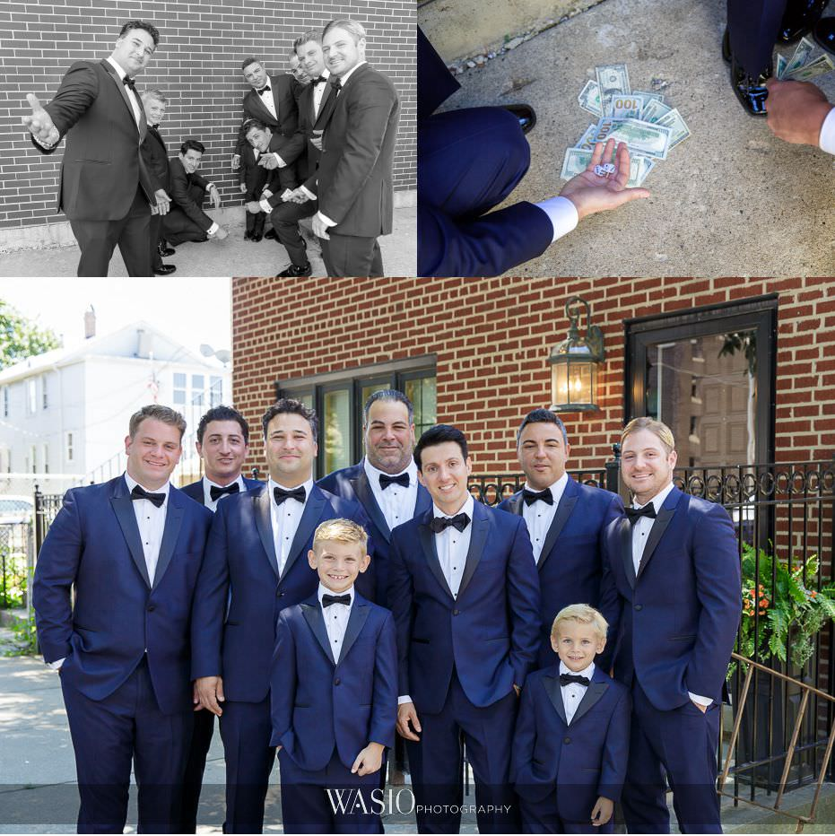 Museum-of-broadcast-communications-wedding-groom-groomsmen-fun-partying-blue-tuxes-37 Museum of Broadcast Communications Wedding - Alyssa & Salvatore