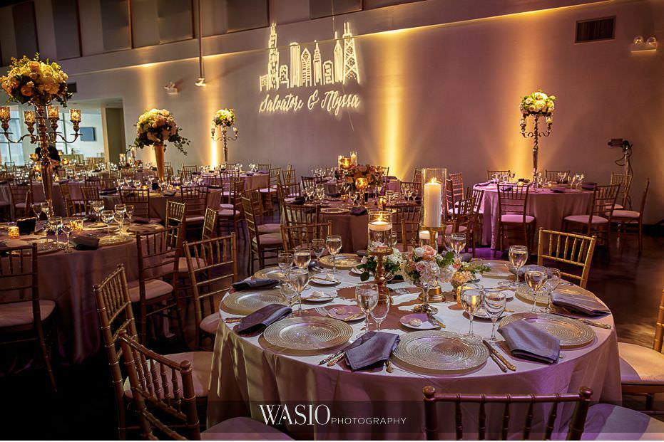 Museum-of-broadcast-communications-wedding-reception-custom-grand-room-decor-55 Museum of Broadcast Communications Wedding - Alyssa & Salvatore