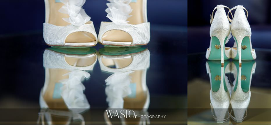 Museum-of-broadcast-communications-wedding-something-blue-soles-betsy-johnson-white-lace-wedding-bridal-shoes-26 Museum of Broadcast Communications Wedding - Alyssa & Salvatore