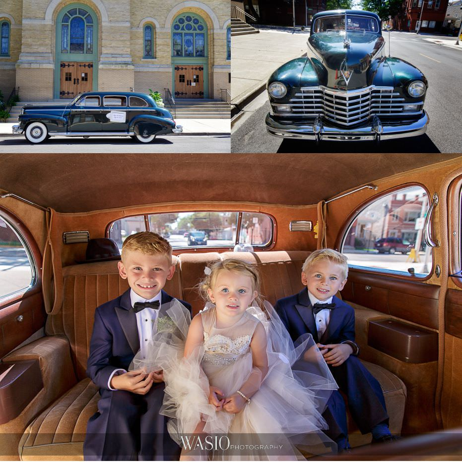 Museum-of-broadcast-communications-wedding-vintage-car-flower-girl-ring-bear-kids-portraits-44 Museum of Broadcast Communications Wedding - Alyssa & Salvatore