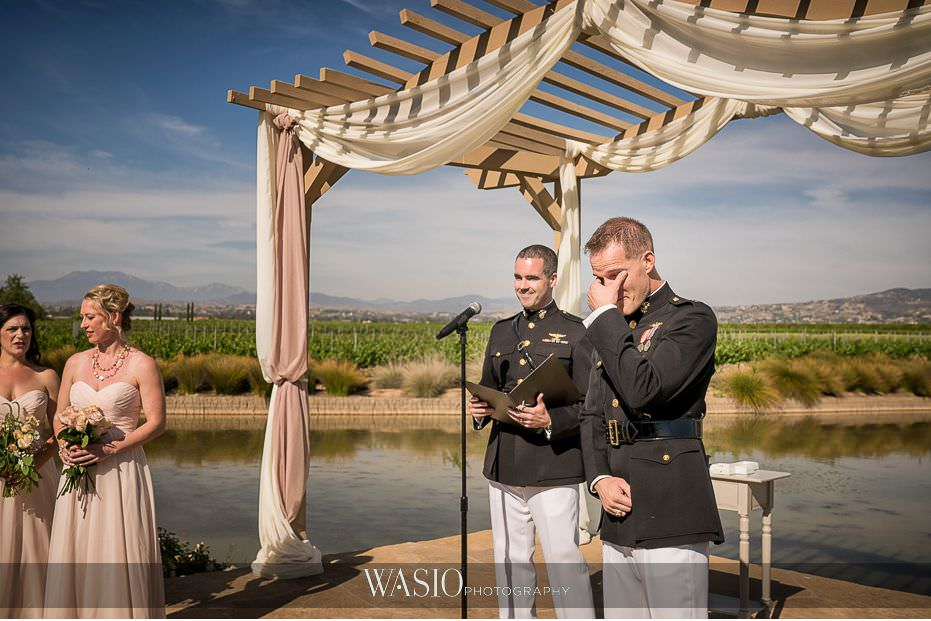 Ponte-Winery-Temecula-Wedding-crying-groom-first-look-outdoor-ceremony-48 Ponte Winery Temecula Wedding  - Erin and Scott