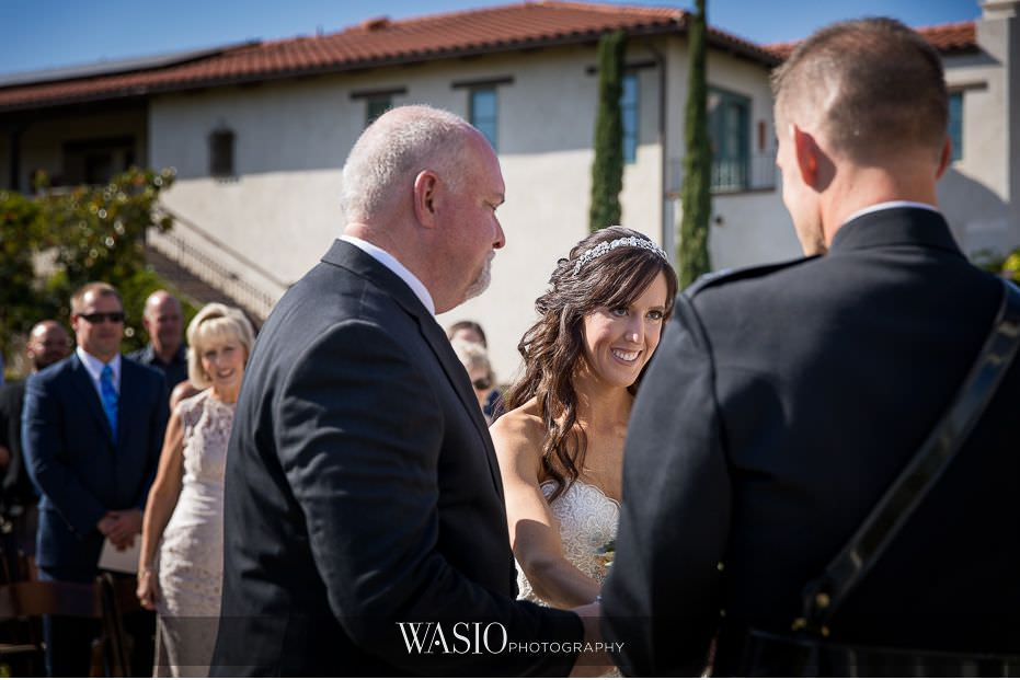 Ponte-Winery-Temecula-Wedding-father-giving-daughter-away-67 Ponte Winery Temecula Wedding  - Erin and Scott