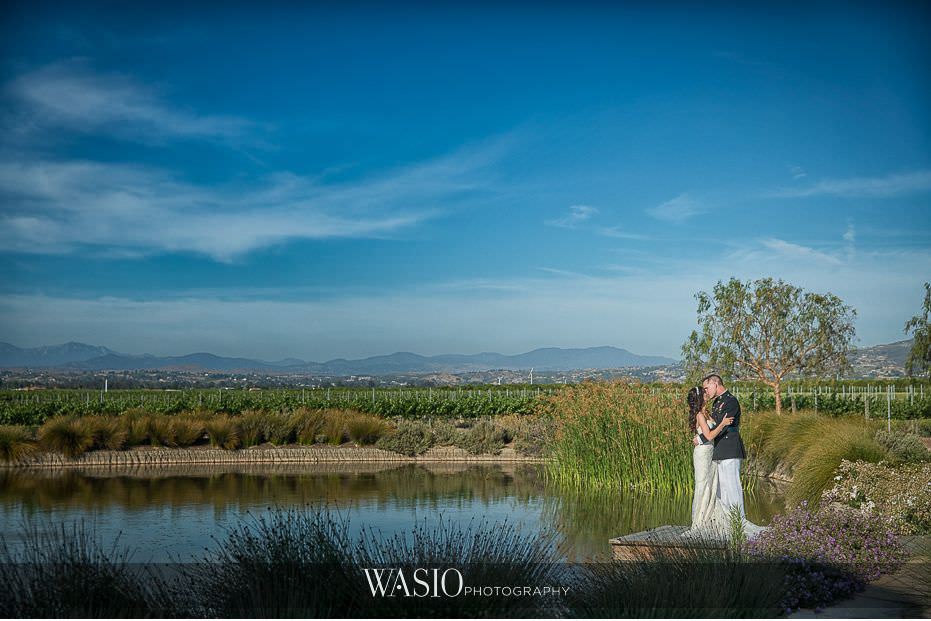 Ponte-Winery-Temecula-Wedding-landscape-lake-bride-groom-portrait-45 Ponte Winery Temecula Wedding  - Erin and Scott