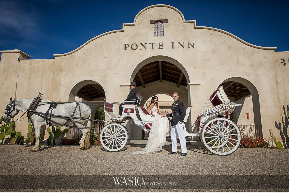 Ponte-Winery-Temecula-Wedding-white-horse-carriage-52 Ponte Winery Temecula Wedding  - Erin and Scott
