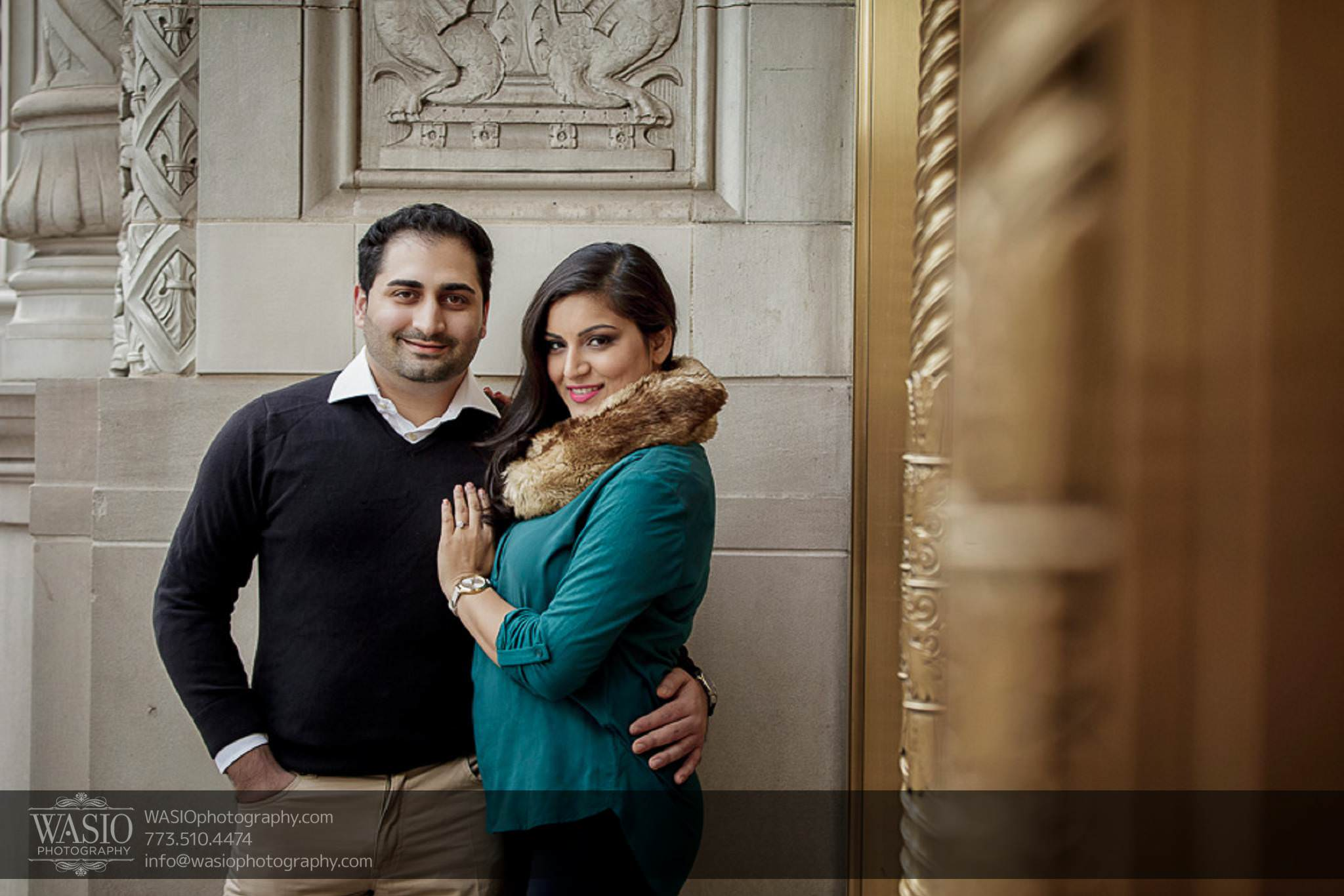 Snowy Chicago Engagement Session – Fatima + Asad