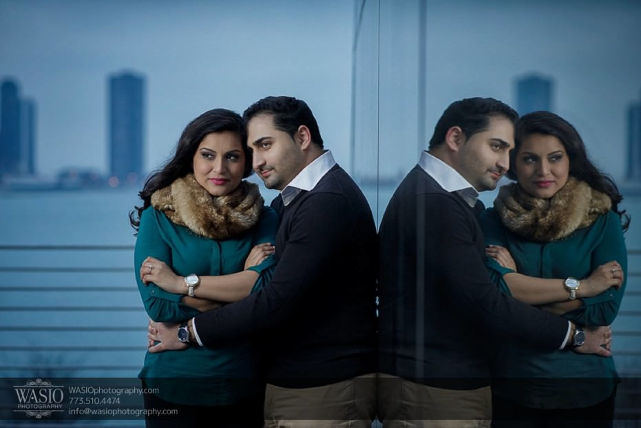 Snowy-Chicago-Engagement-Session-planetarium-Illinois-reflections-sunset-peaceful-beauty-16-931x621 Snowy Chicago Engagement Session - Fatima + Asad
