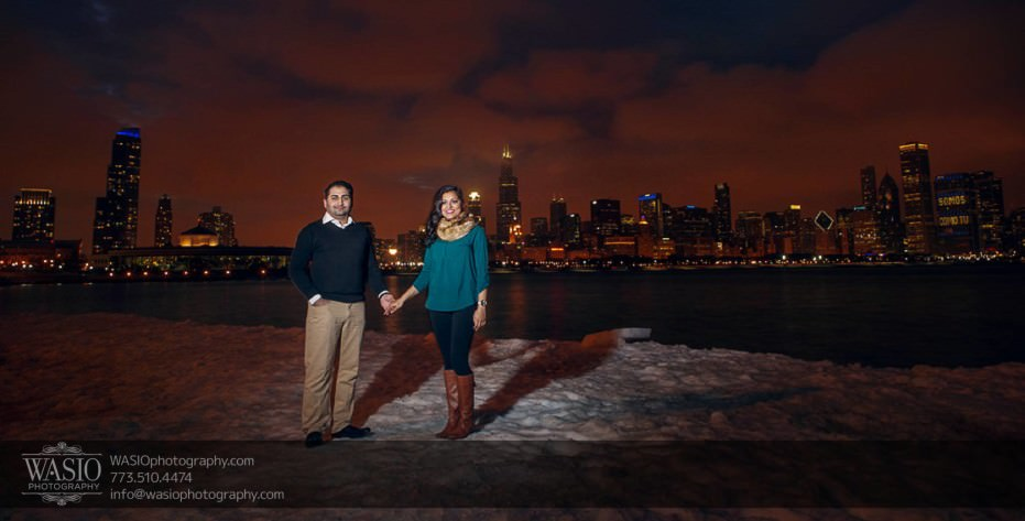 Snowy-Chicago-Engagement-Session-sunset-lake-michigan-long-exposure-exquisit-sky-20-931x473 Snowy Chicago Engagement Session - Fatima + Asad