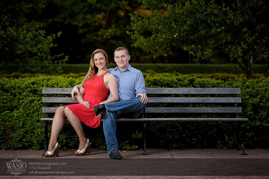 Sunrise-Chicago-Engagement-red-dress-bench-spring-photo-ideas-park-outdoor-nature-blonde-french-079 Sunrise Chicago Engagement - Nathalie + Nick